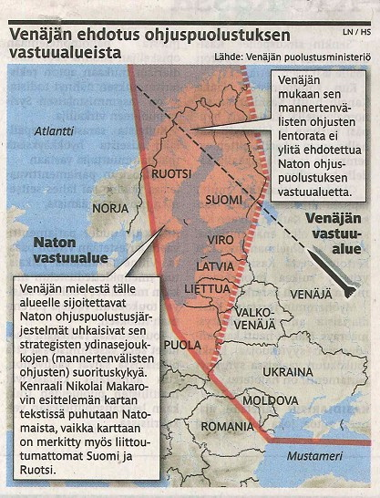 Rysk Intressesfär, enligt Ryssland Foto: Observationsplatsen