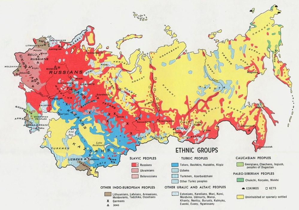Bästa bilden jag kunde hitta kom från Sovjettiden, men denna ger en bra uppfattning om hur diversifierat det är.